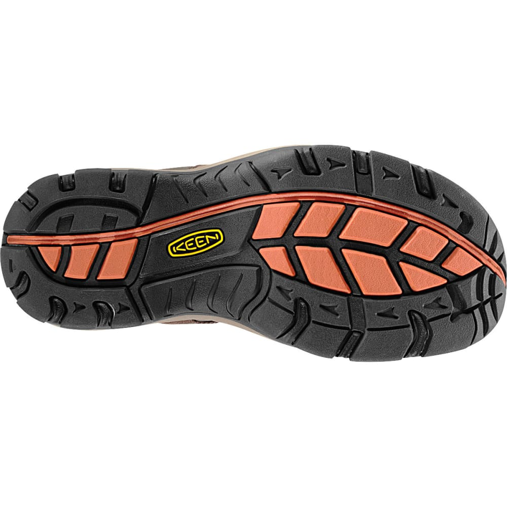KEEN Men's Owyhee Sandals, Slate Black/Rust - SLATE BLACK