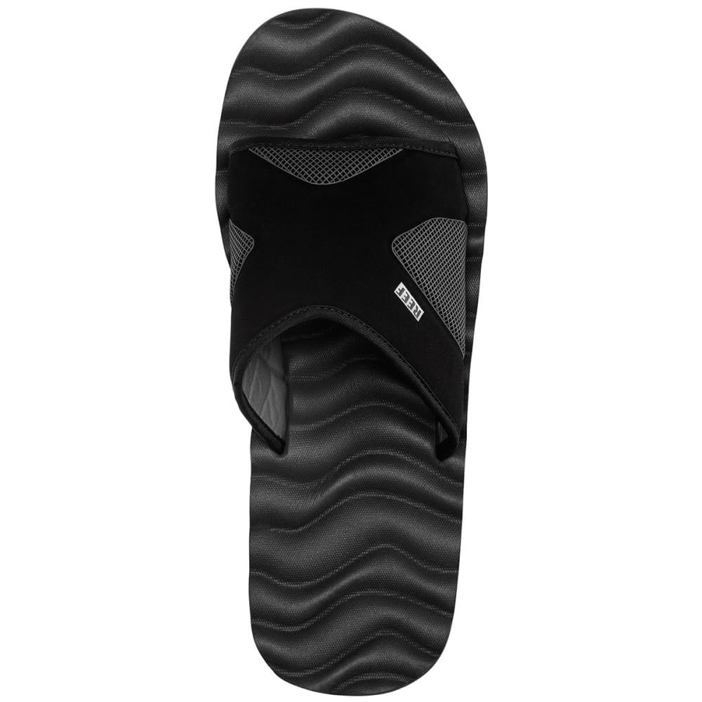 REEF Men's Swellular Slide Flip-Flops, Black - BLACK