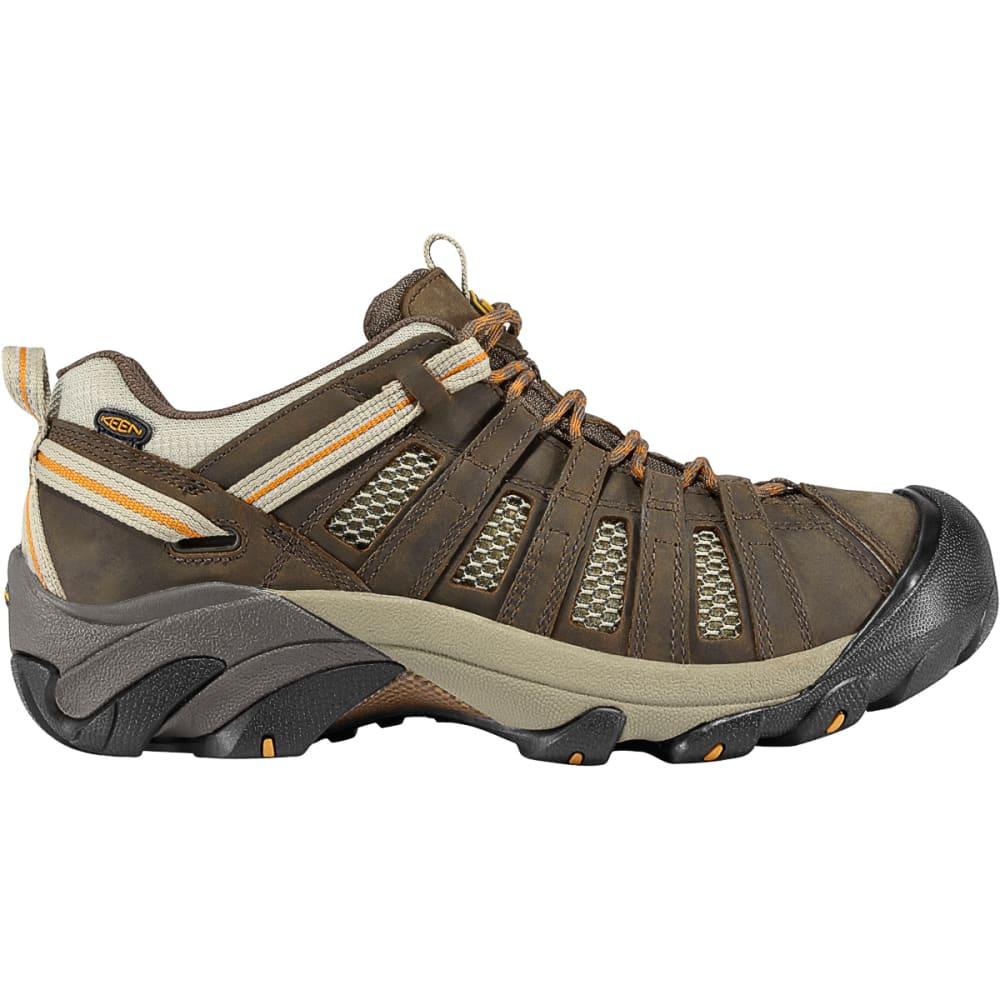 KEEN Men's Voyageur Hiking Shoes - BLACK OLIVE INCA GOL