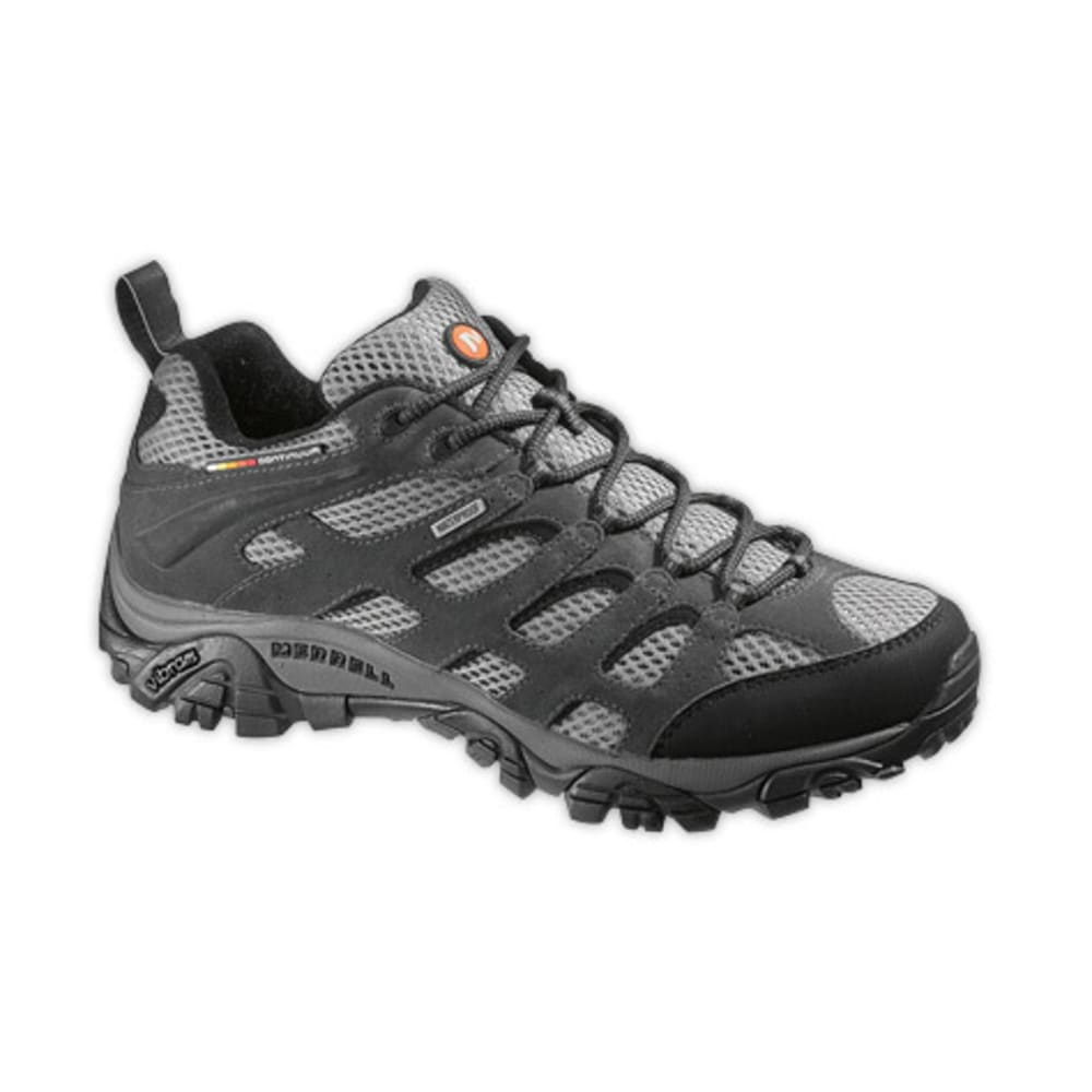 MERRELL Men's Moab Waterproof Hiking Shoes, Beluga - BELUGA