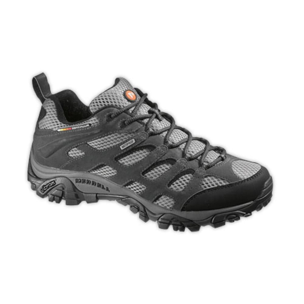 MERRELL Men's Moab Waterproof Hiking Shoes, Beluga - BELUGA