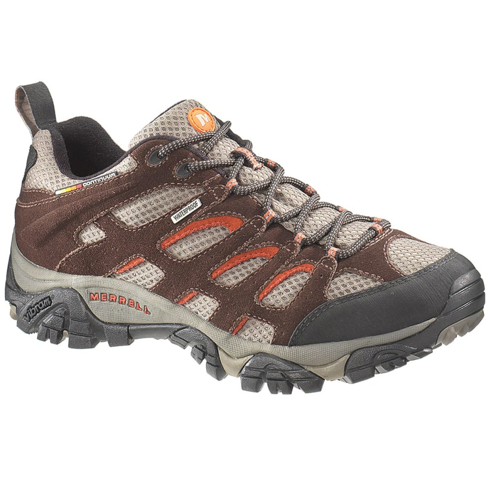 MERRELL Men's Moab WP Hiking Shoes, Espresso, Wide - ESPRESSO
