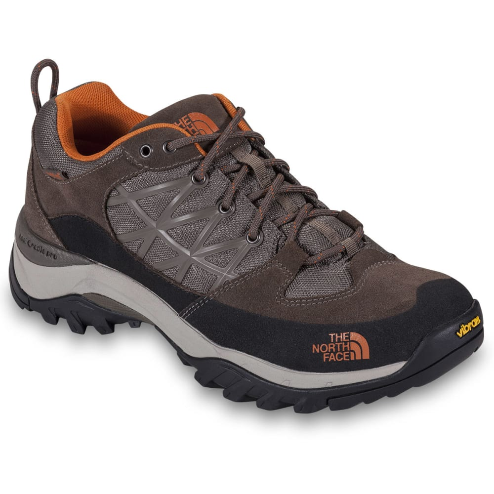 THE NORTH FACE Men's Storm WP Hiking Shoes, Brown/Orange - BROWN