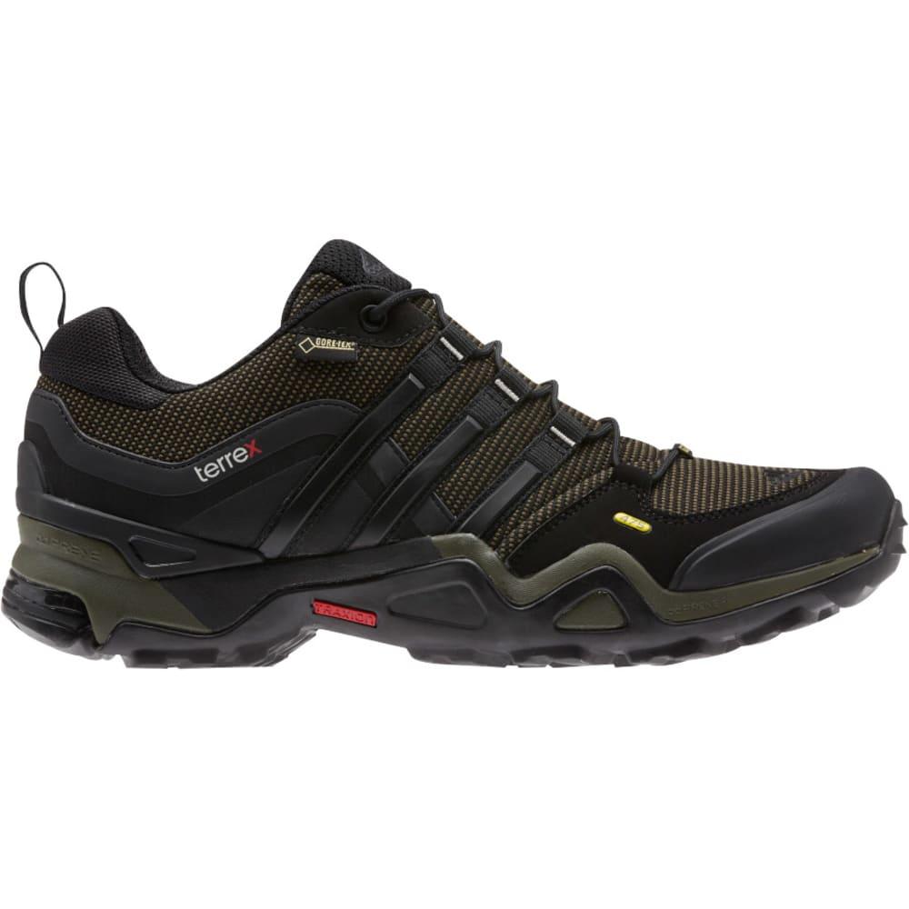 ADIDAS Men's Terrex Fast X GTX Hiking Shoes, Earth Green - GREEN/BLACK