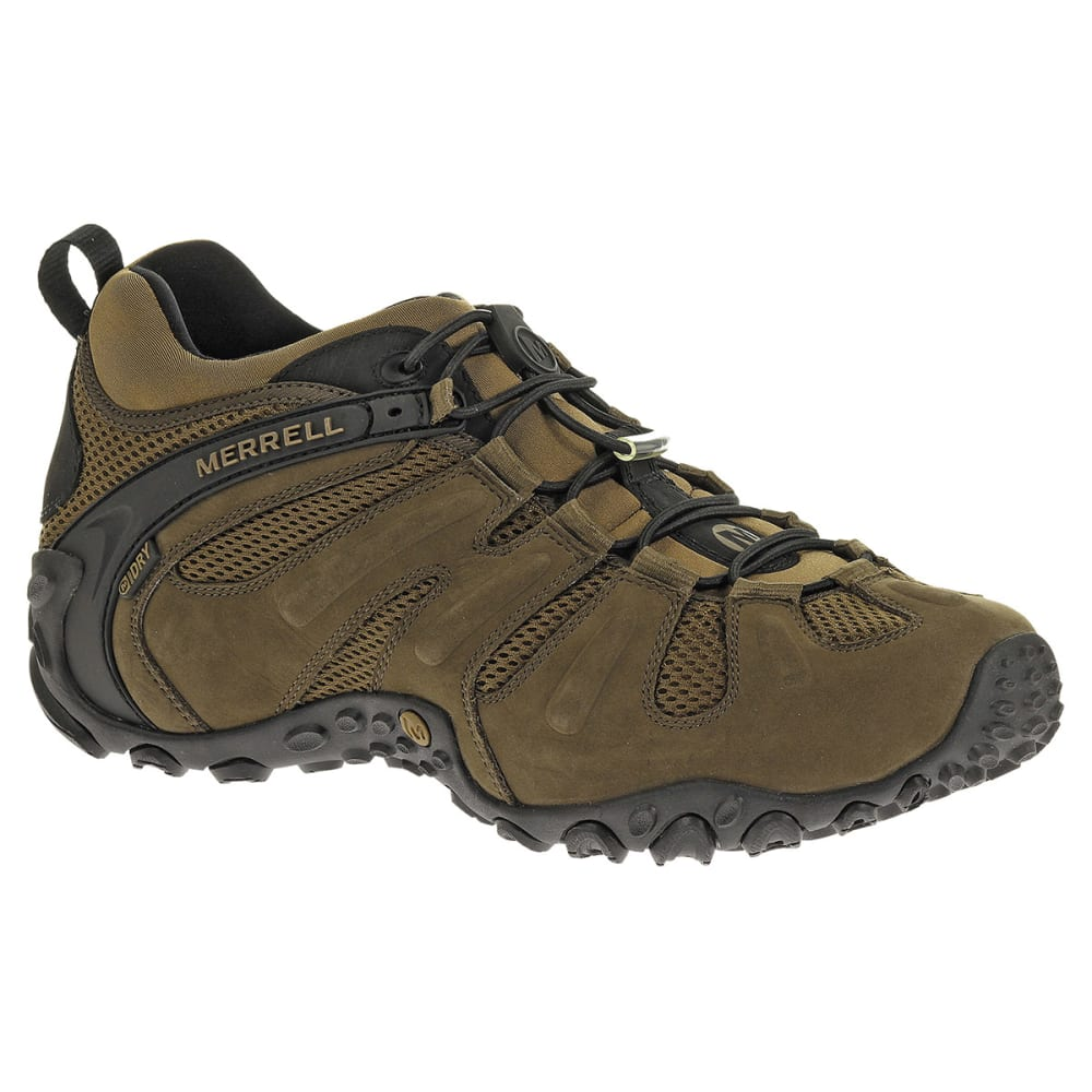 MERRELL Men's Chameleon Prime Stretch Waterproof Hiking Shoes, Canteen - CANTEEN