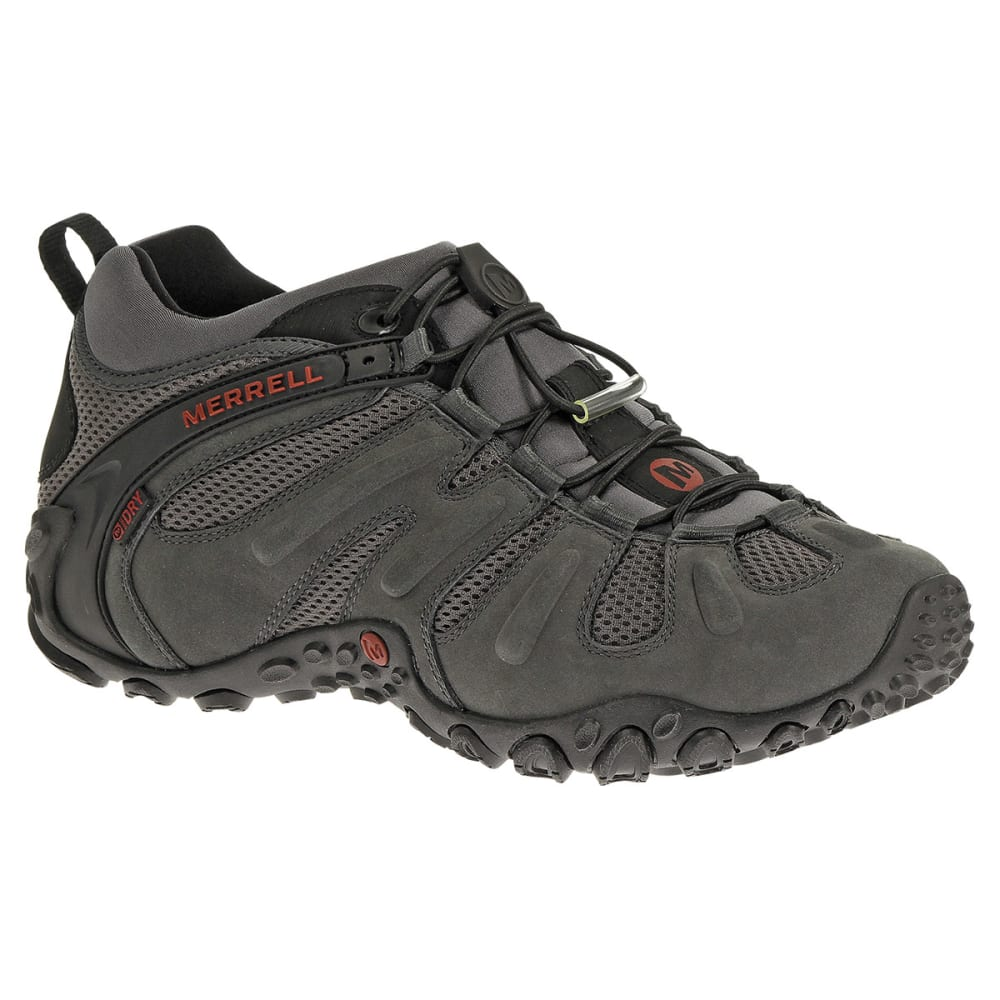 MERRELL Men's Chameleon Prime Stretch Waterproof Hiking Shoes, Granite - GRANITE