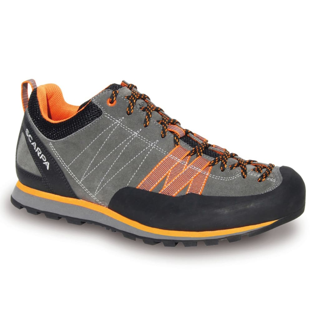 SCARPA Men's Crux Hiking Shoes, Grey/Orange 40