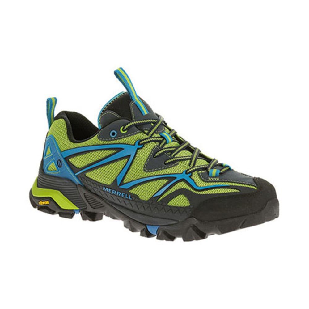 MERRELL Men's Capra Sport Hiking Shoes, Black/Lime Green -