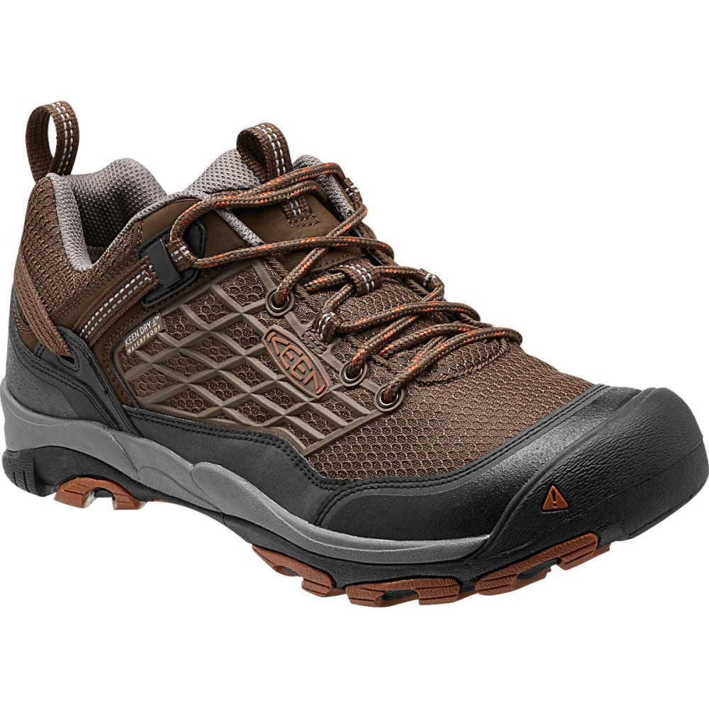 KEEN Men's Saltzman Waterproof Trail Shoes - CASCADE BROWN