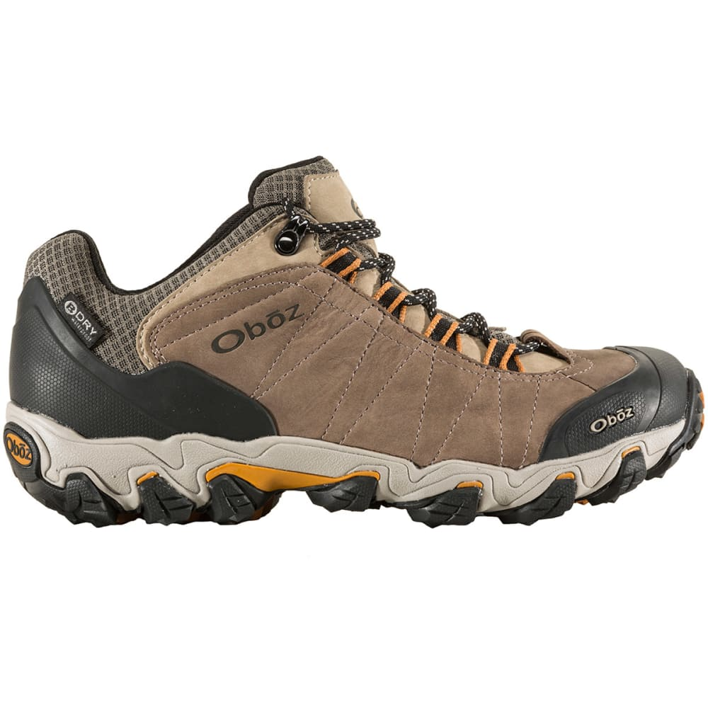 OBOZ Men's Bridger Low B-Dry Hiking Shoes - WALNUT