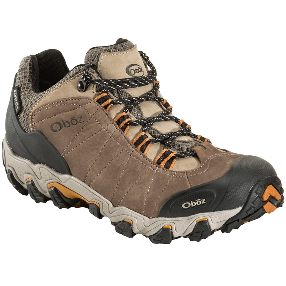 OBOZ Men's Bridger Low BDry Hiking Shoes, Walnut - WALNUT