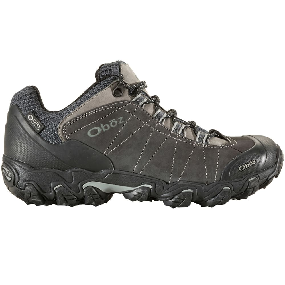 OBOZ Men's Bridger Low BDry Hiking Shoes, Dark Shadow - DARK SHADOW