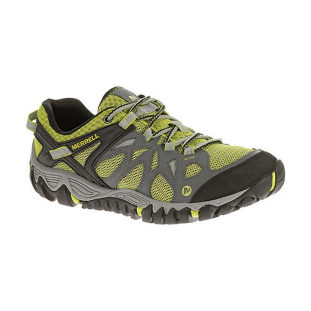 MERRELL Men's All Out Blaze Aero Sport Hiking Shoes, Castle/ Green Oasis - CASTLE ROCK/GREEN OA