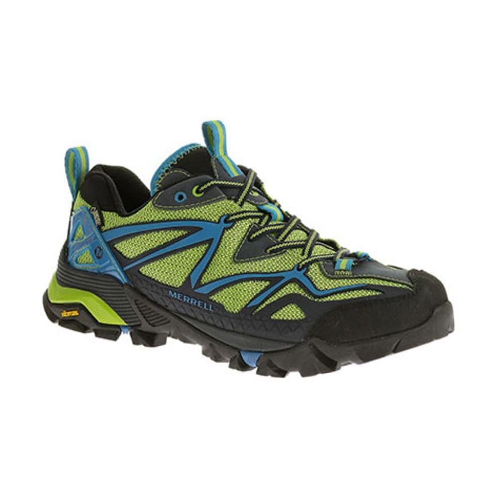 MERRELL Men's Capra Sport GTX Hiking Shoe - BLACK/LIME GREEN
