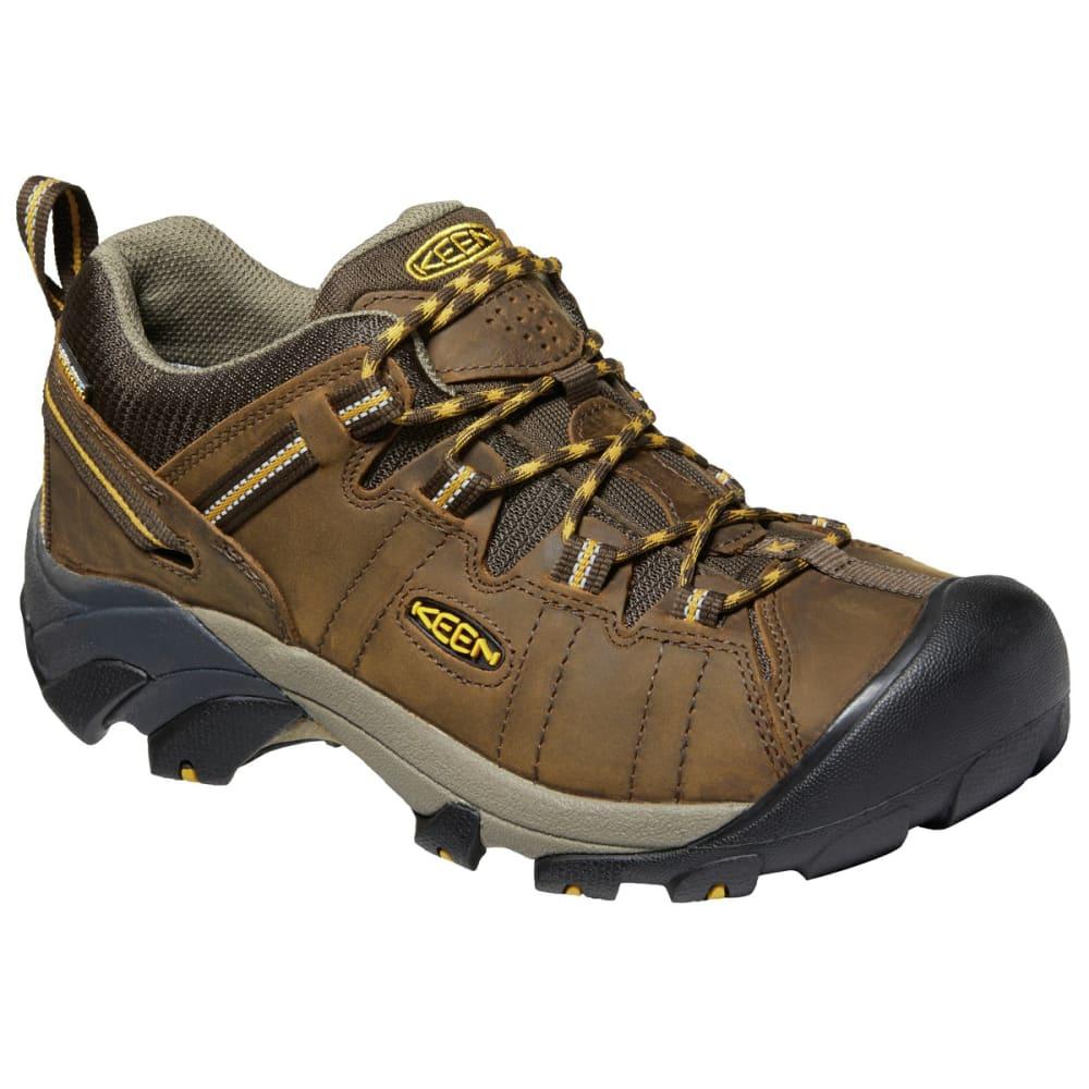 KEEN Men's Targhee 2 Low Waterproof Hiking Shoe - CAS BROWN GOLDEN YEL