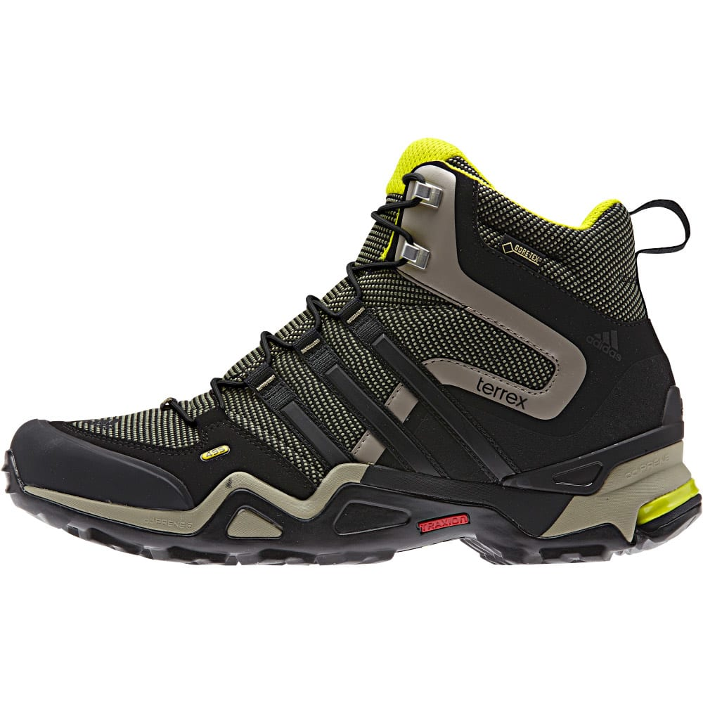 ... ADIDAS Menrsquos Terrex Fast X High GTX Hiking Boots - BASE GREENBLACK  ... f4bc77822