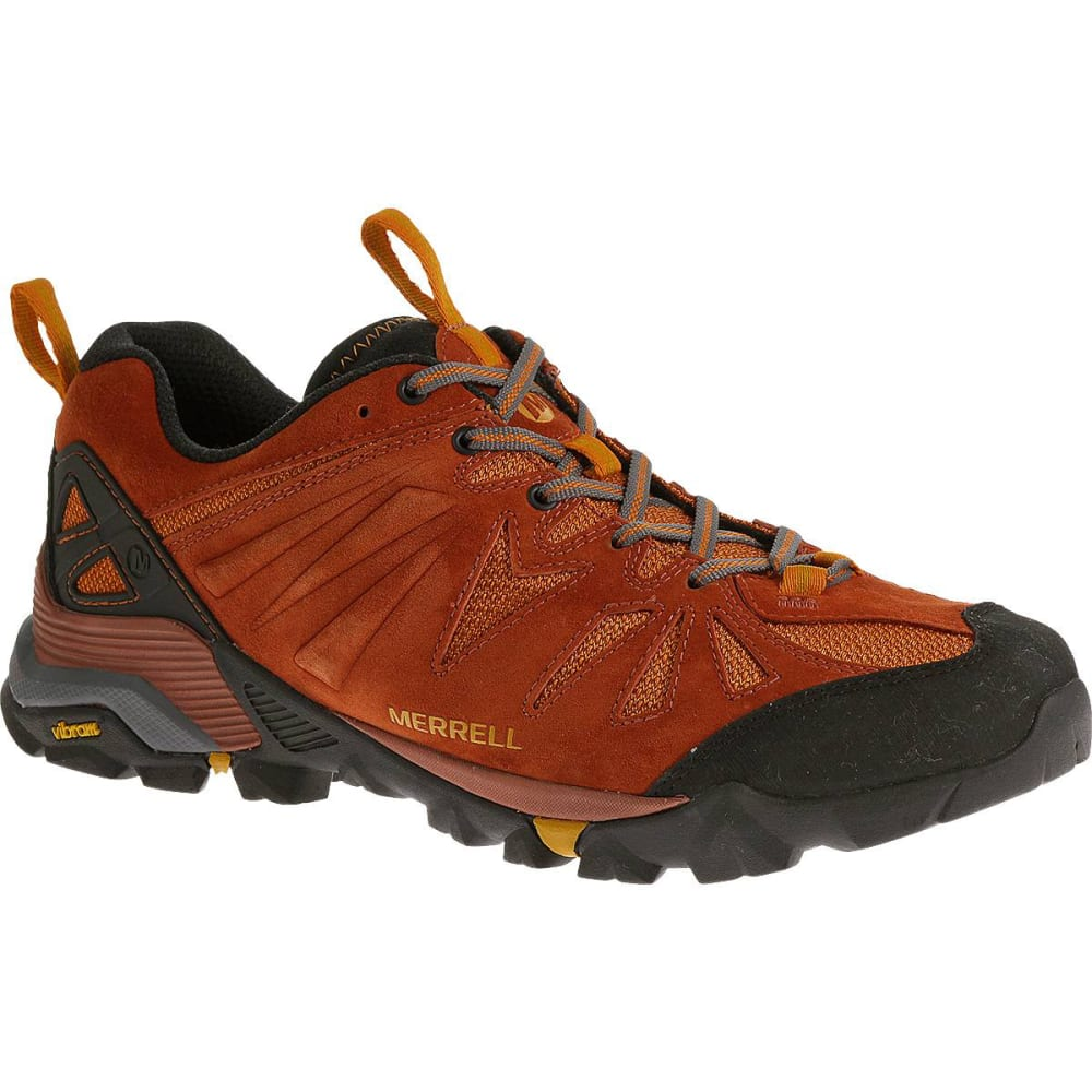 MERRELL Menrsquos Capra Hiking Shoes Dark Rust