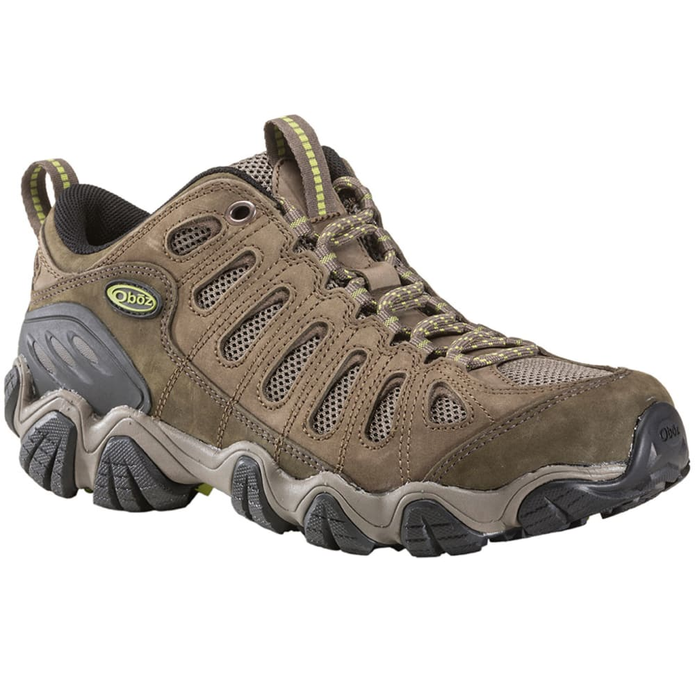 OBOZ Men's Sawtooth Low Hiking Shoes, Umber - BROWN