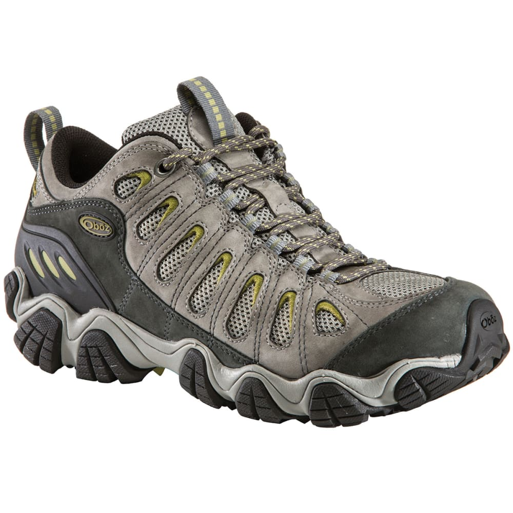 OBOZ Men's Sawtooth Low Hiking Shoes, Wide, Umber - PEWTER