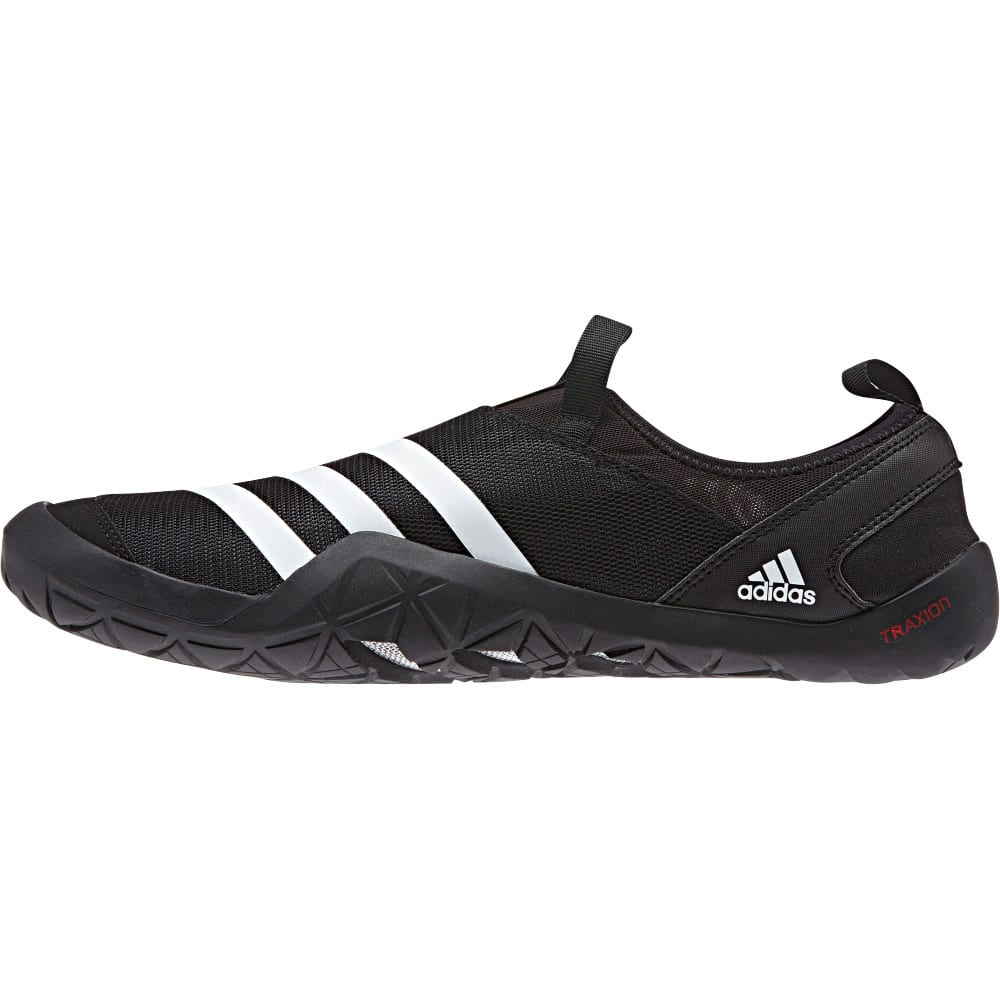 ADIDAS Men's Climacool Jawpaw Slip On Shoes - BLACK/WHITE/SILVER M