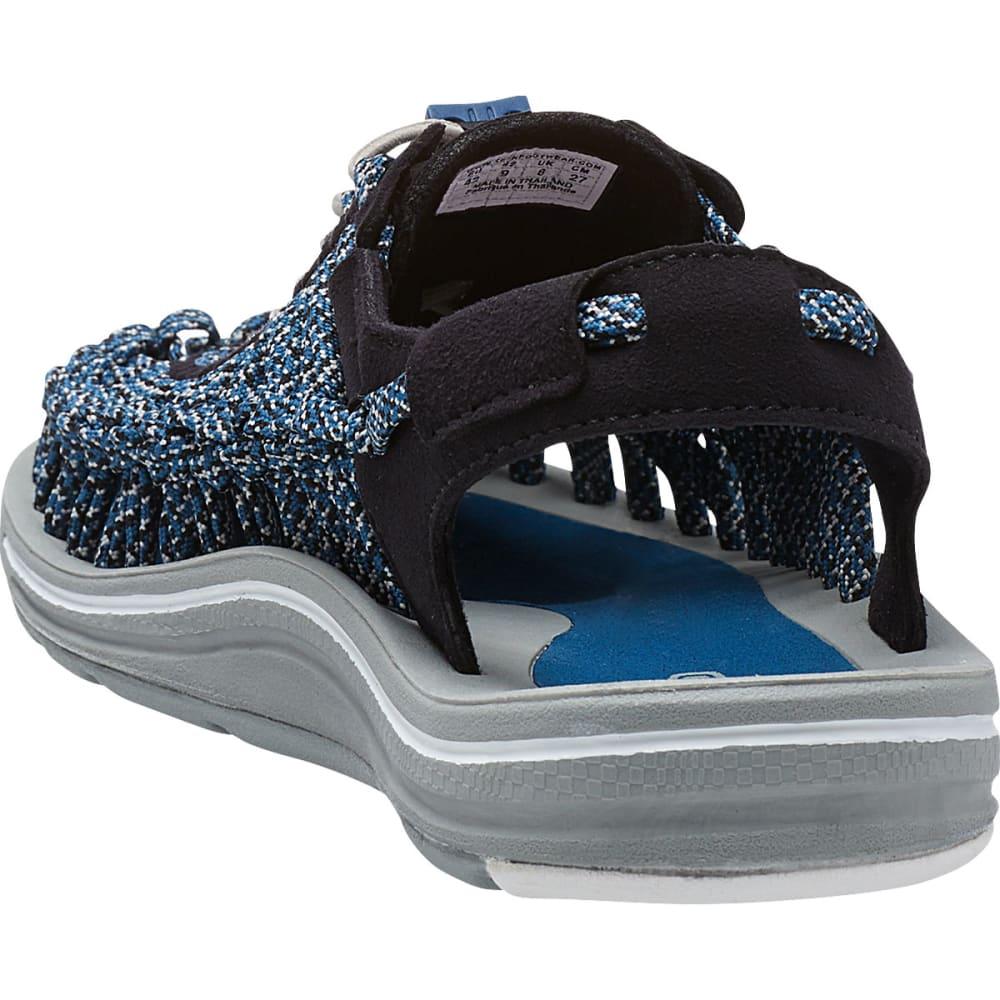 KEEN Men's Uneek Flat Cord Sandals, Black/Camo - BLACK