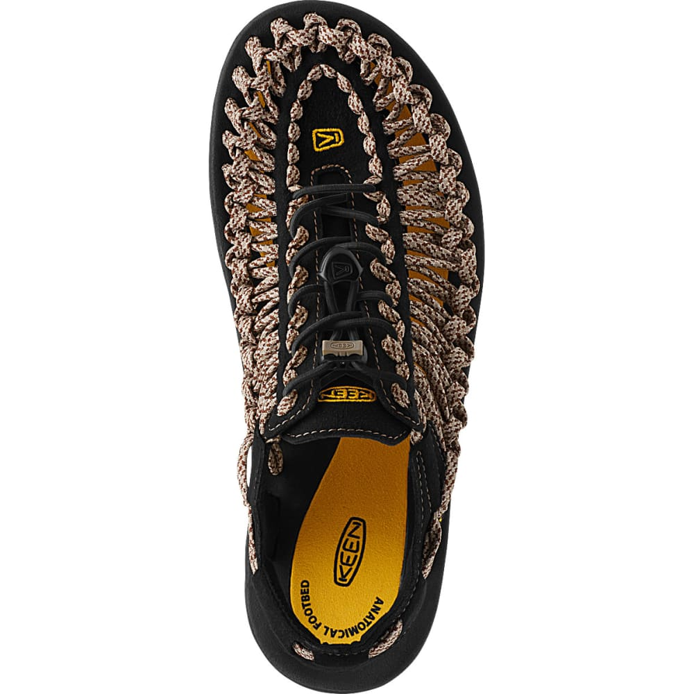 KEEN Men's Uneek Flat Cord Sandals, Yellow/Camo - YELLOW
