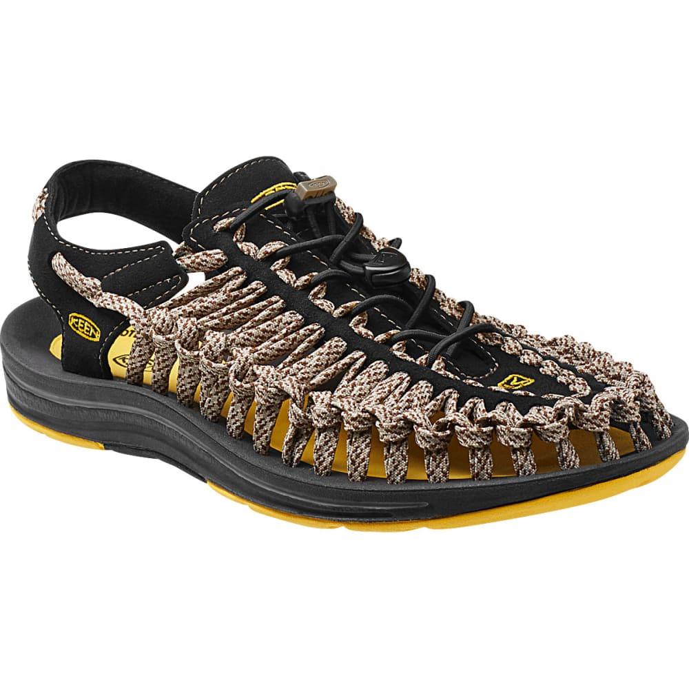 KEEN Men's Uneek Flat Cord Sandals, Yellow/Camo - YELLOW
