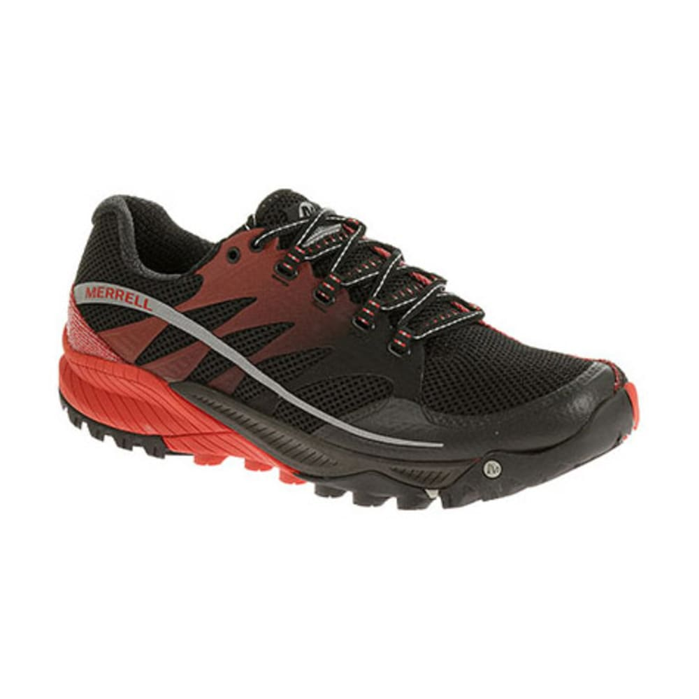 MERRELL Men's All Out Charge Running Shoes, Black/Molten Lava - APPLE/HEMLOCK