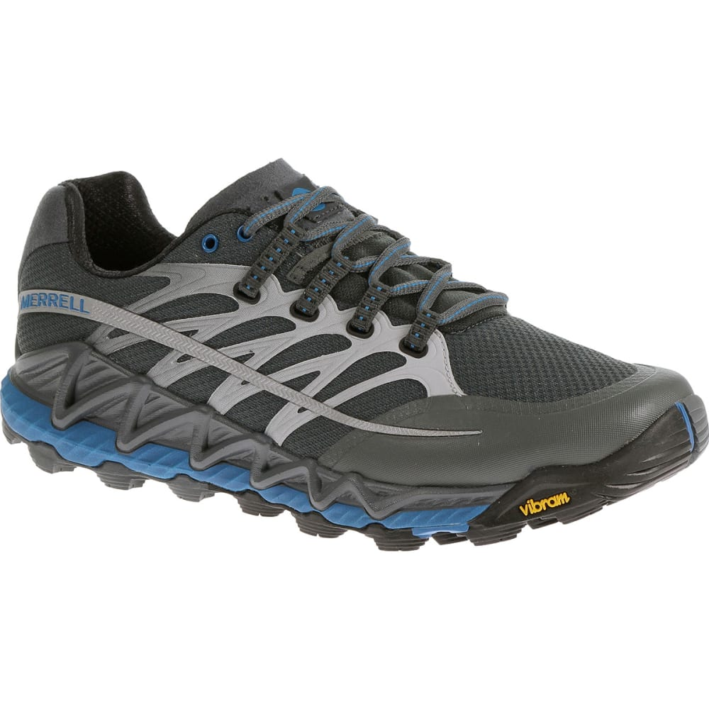 MERRELL Men's All Out Peak Trail Running Shoes, Turbulence/Blue - TURBULENCE/ BLUE