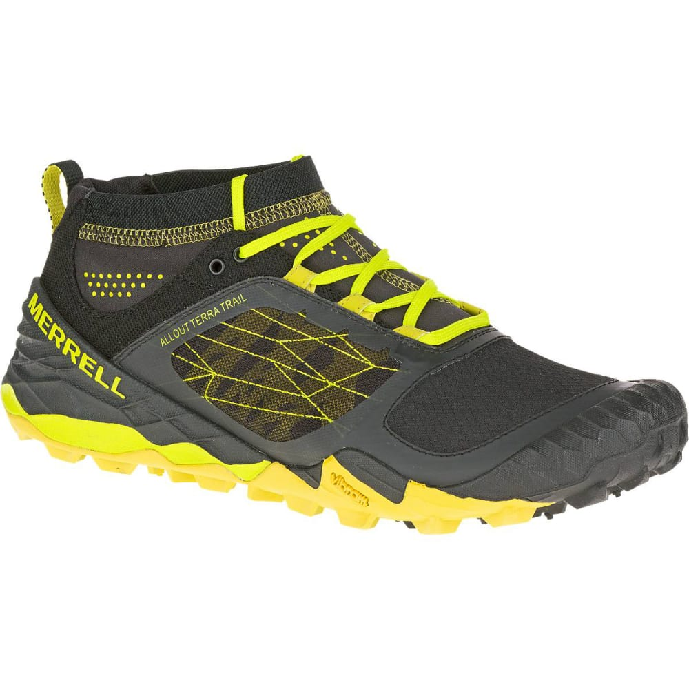 MERRELL Men's All Out Terra Trail Running Shoes, Yellow/Black - YELLOW