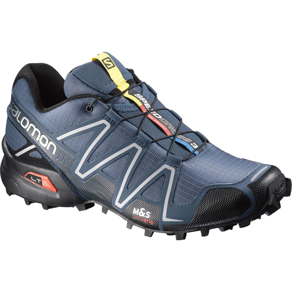 salomon men 39 s speedcross 3 trail running shoes slate blue black deep blue. Black Bedroom Furniture Sets. Home Design Ideas