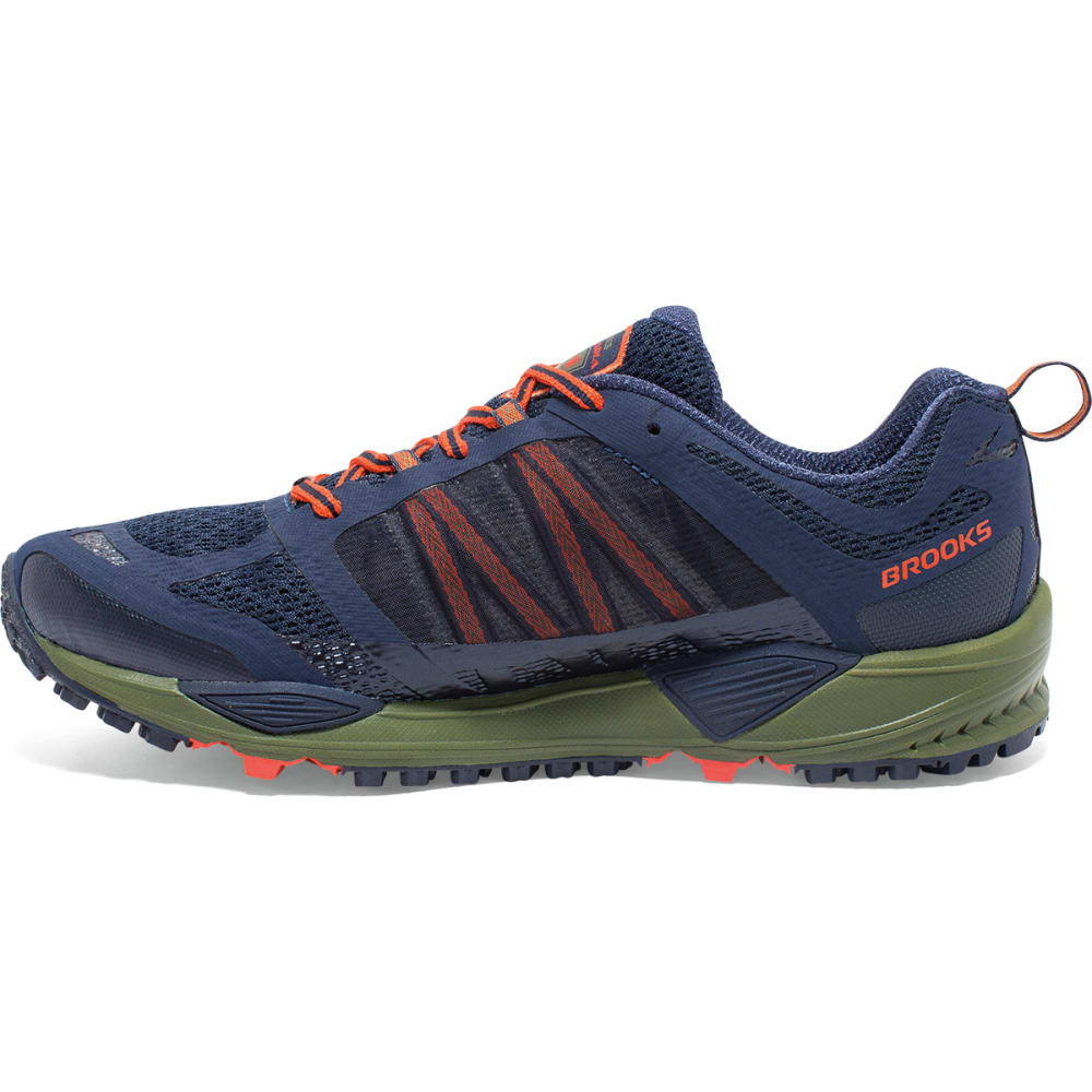 BROOKS Men's Cascadia 11 Trail Running Shoes - BLUE