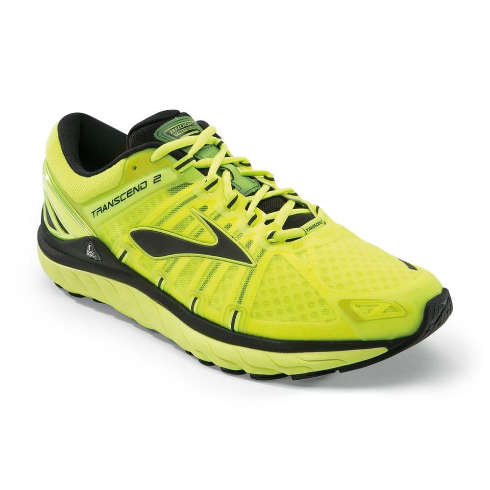 a6496d62068 BROOKS Men  39 s Transcend 2 Running Shoes - LIME PUNCH BLACK