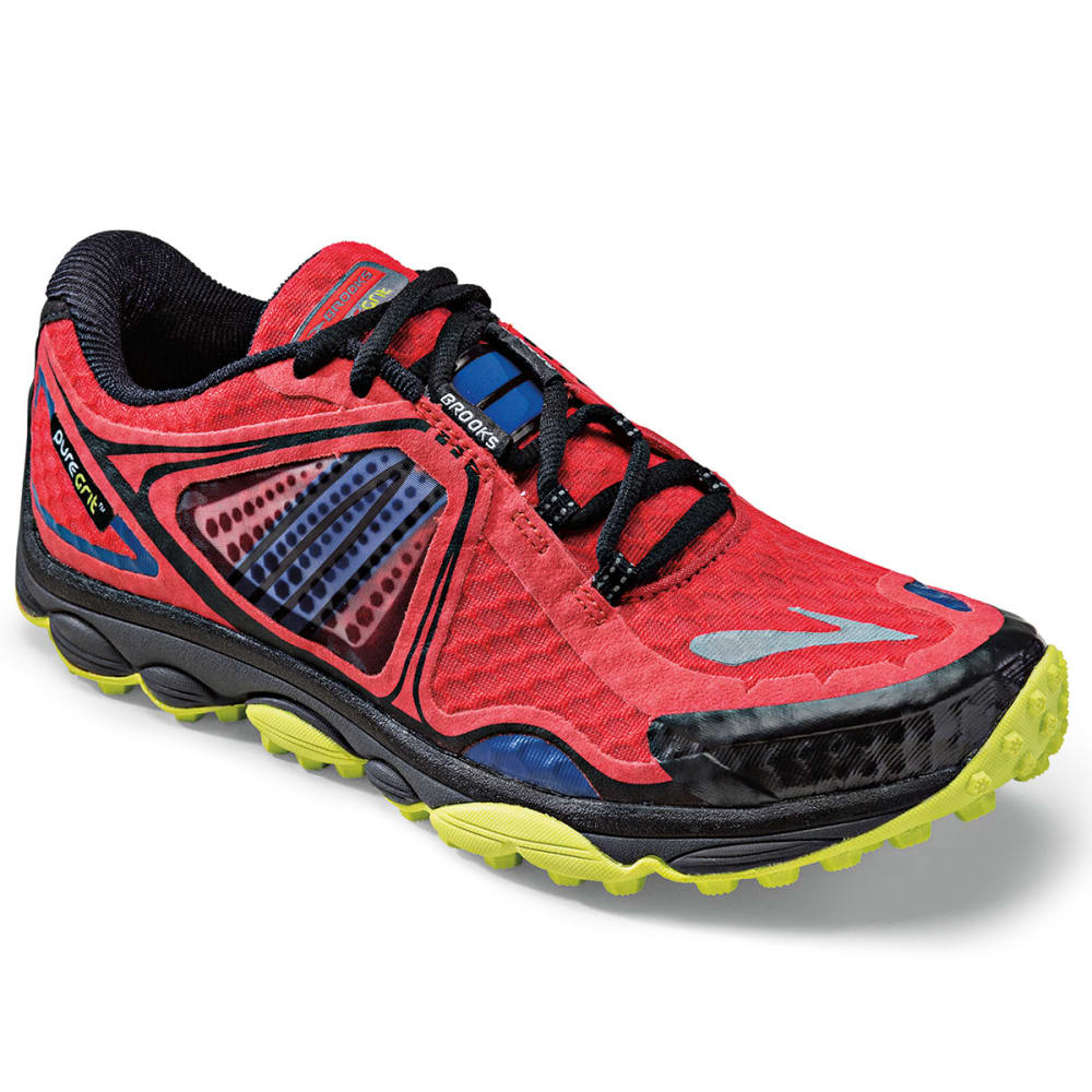BROOKS Men's PureGrit 3 Trail Running Shoes, High Risk Red -