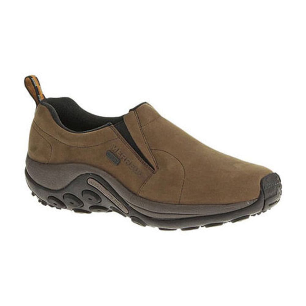 MERRELL Men's Jungle Moc Nubuck Waterproof Shoes, Brown - BROWN