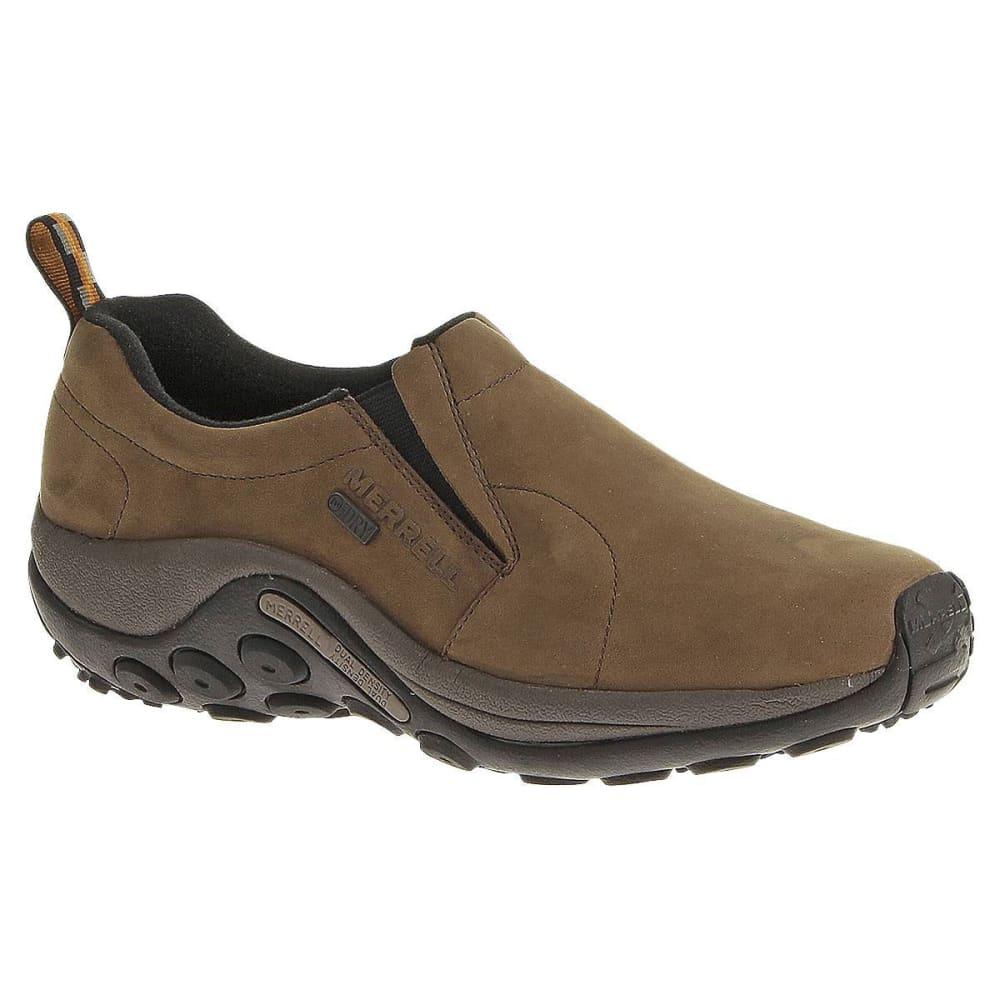 MERRELL Men's Jungle Moc Nubuck Waterproof Shoes - BROWN