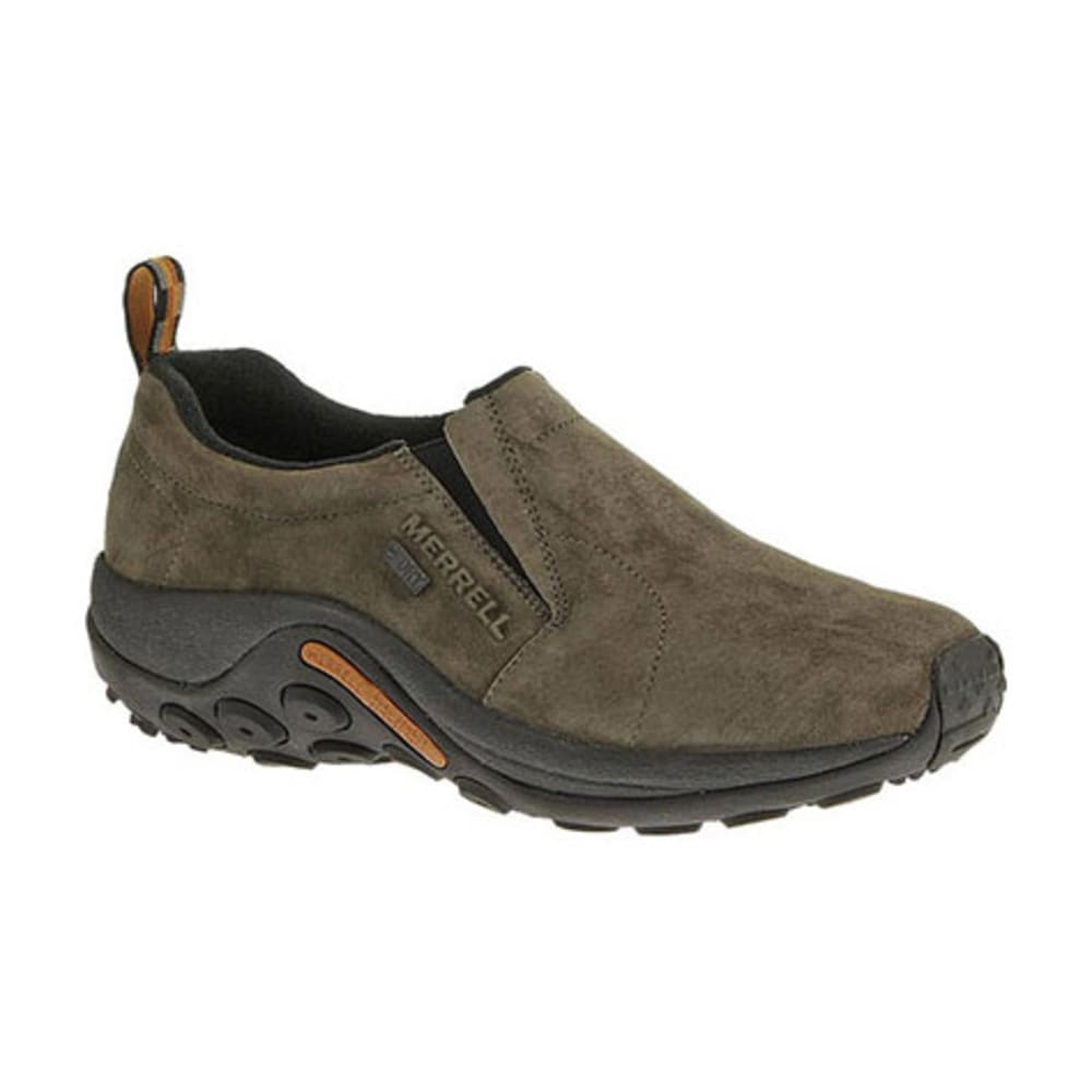 MERRELL Men's Jungle Moc Waterproof Shoes, Gunsmoke - GUNSMOKE