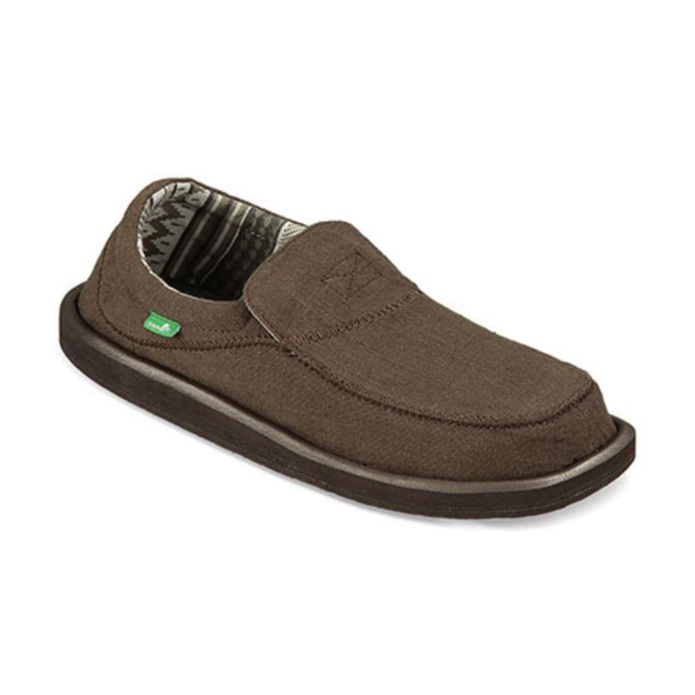 SANUK Men's Chiba Stitched Shoes, Dark Brown - DARK BROWN