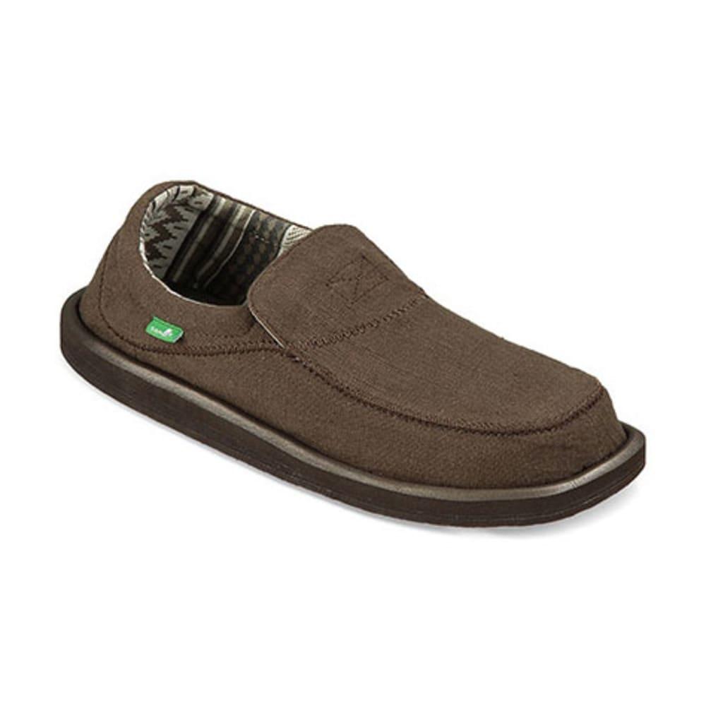 SANUK Men's Chiba Stitched Shoes, Dark Brown - DARK BROWN