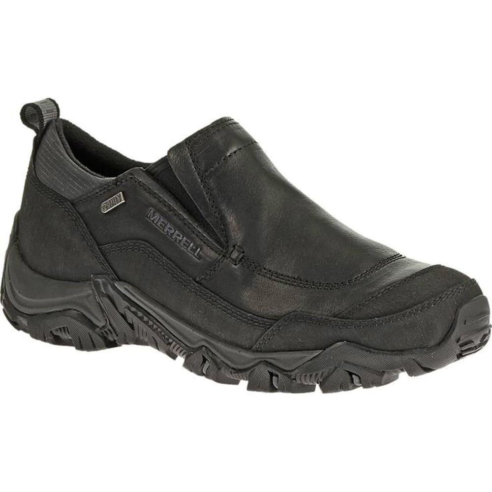 MERRELL Men's Polarand Rove Moc Waterproof Winter Shoes, Black - BLACK