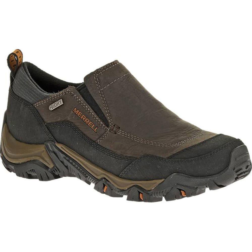 MERRELL Men's Polarand Rove Moc Waterproof Winter Shoes, Black Slate - BLACK SLATE