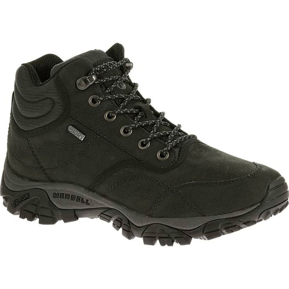 MERRELL Men's Moab Rover Mid Waterproof Boots, Black, Wide - BLACK