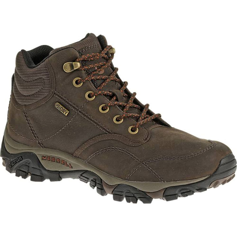 MERRELL Men's Moab Rover Mid Waterproof Boots, Espresso, Wide - ESPRESSO