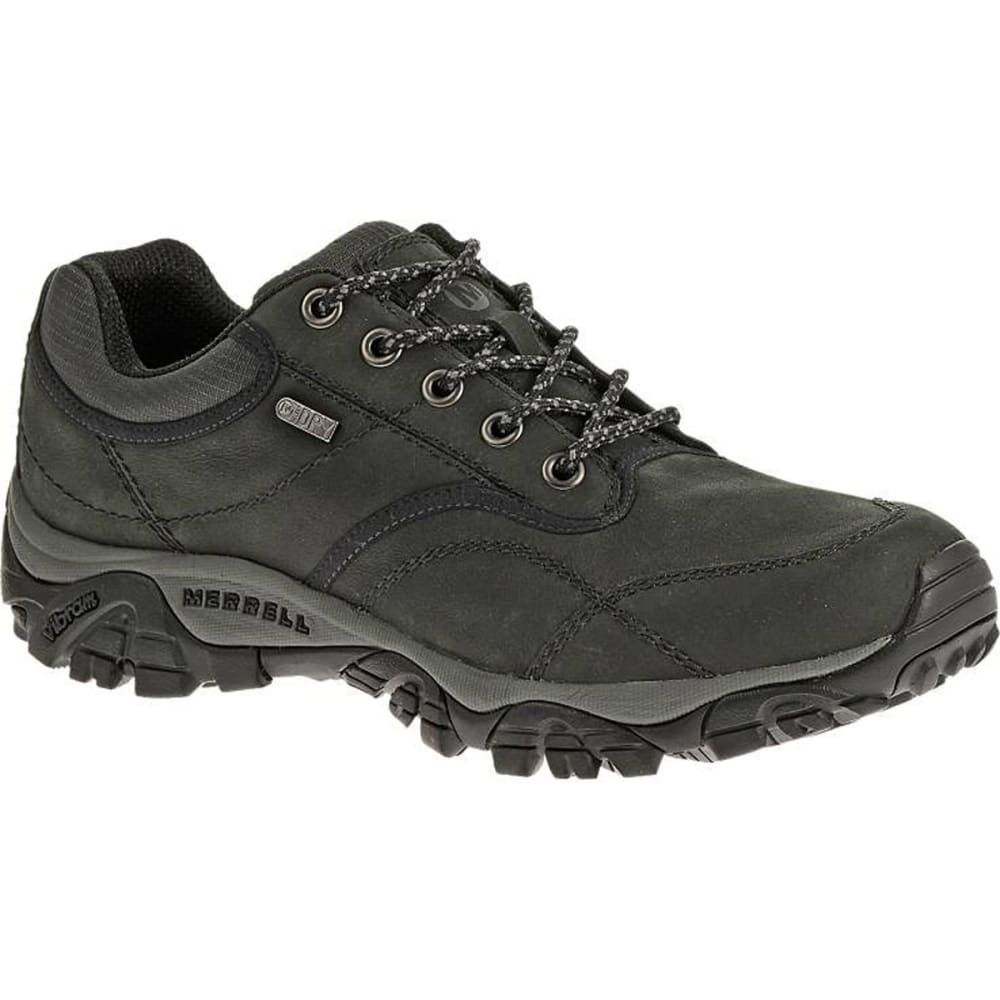 MERRELL Men's Moab Rover Waterproof Shoes, Black, Wide - BLACK