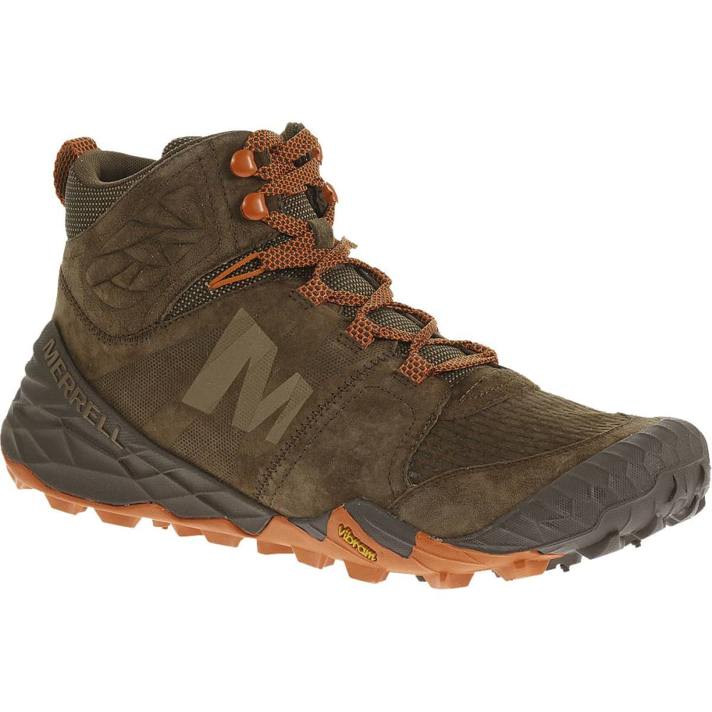 MERRELL Men's All Out Terra Turf Mid Boots, Brown - BROWN