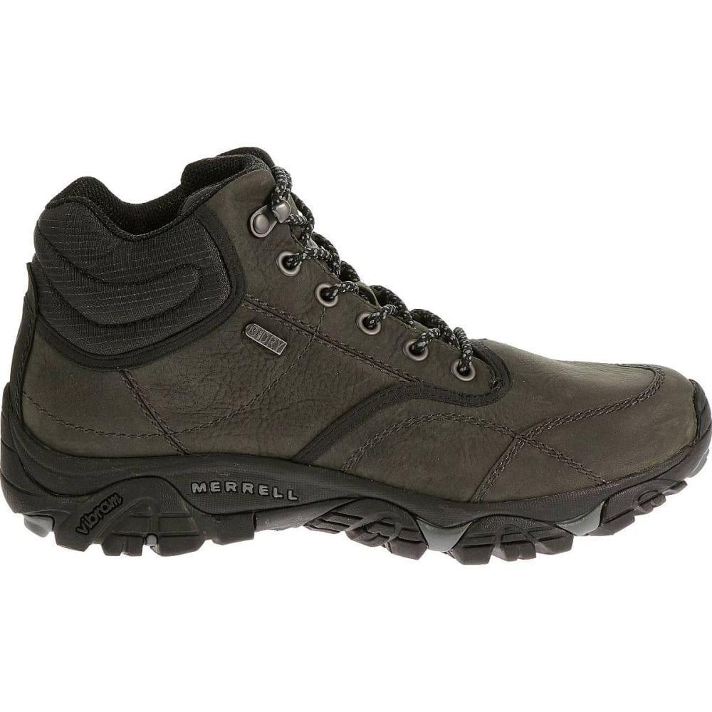 MERRELL Men's Moab Rover Mid Waterproof Hiking Boots, Castle Rock, Wide - CASTLE ROCK