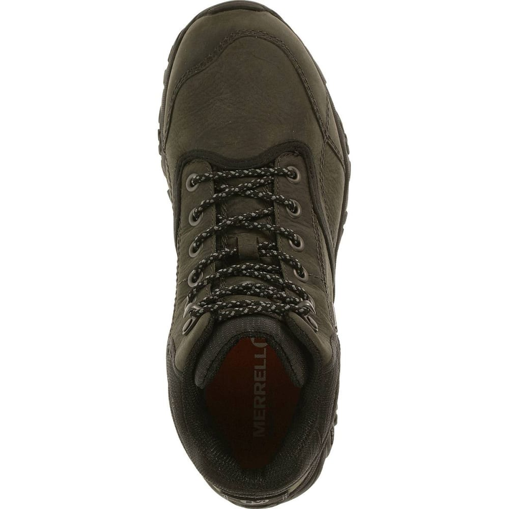 MERRELL Men's Moab Rover Mid Waterproof Hiking Boots, Castle Rock, Wide - CASTLE ROCK