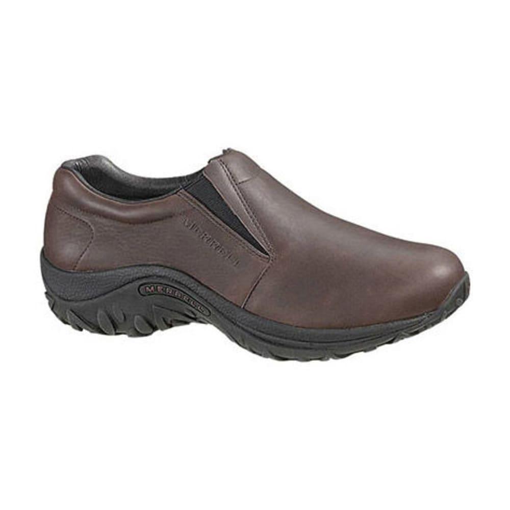 MERRELL Men's Jungle Moc Leather Shoes - MAHOGANY BROWN