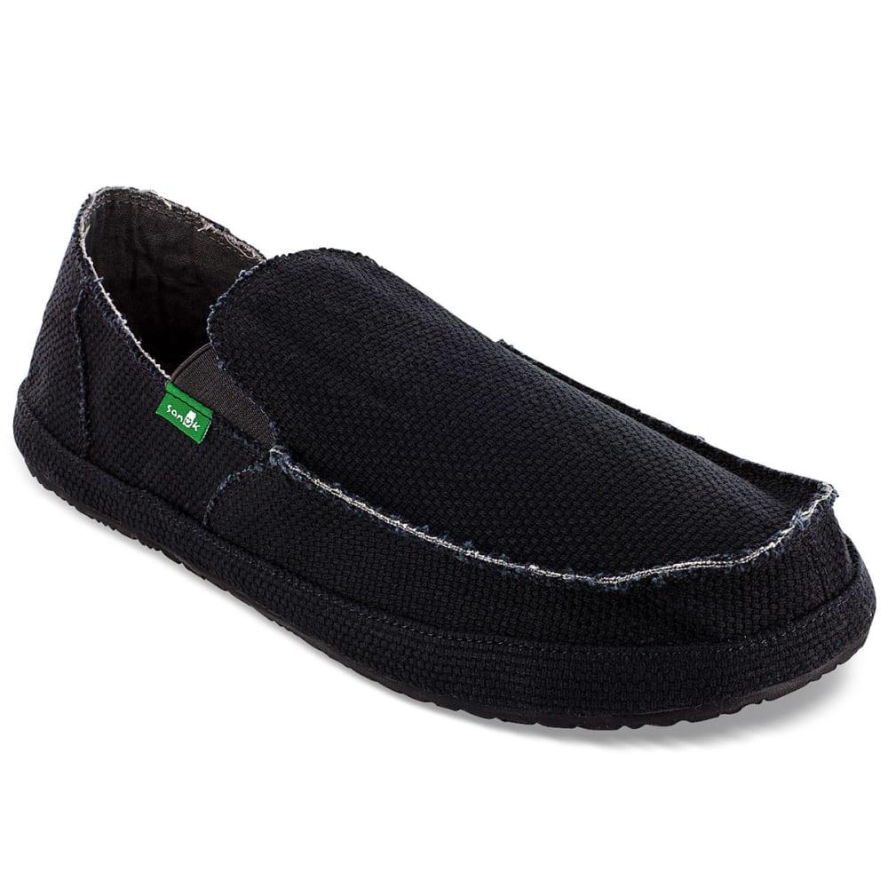 SANUK Men's Rounder Shoes, Black - BLACK