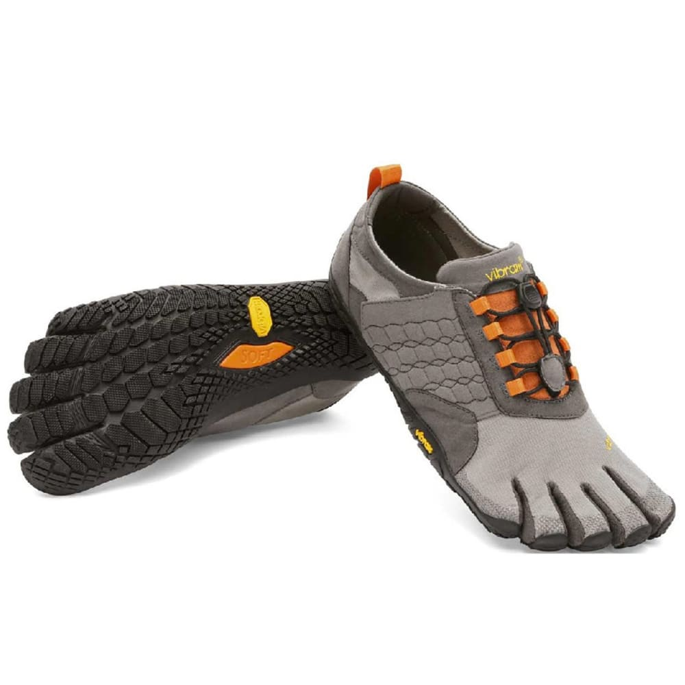 VIBRAM FIVEFINGERS Men's Trek Ascent Barefoot Shoes, Grey - GREY/BLACK/ORANGE